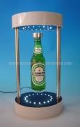 Présentoir lévitation bouteilles publicitaires