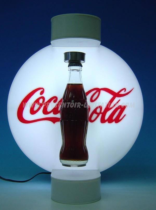 Présentoir lévitation bouteilles publicitaires : objet PLV