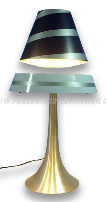lampe design - présentoir à lévitation avec abat-jour en suspension