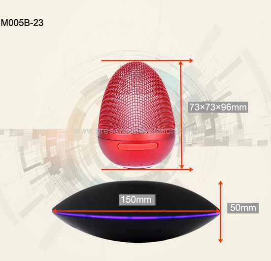 Haut-parleur bluetooth - présentation des dimensions de l'enceinte et de sa base