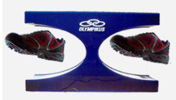 présentoir magasin - présentoir à lévitation à double point pour chaussures avec logo sur le support
