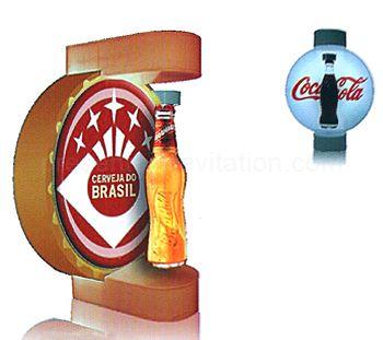 hi tech - présentoir à lévitation pour bouteille avec logo inclus dans le support